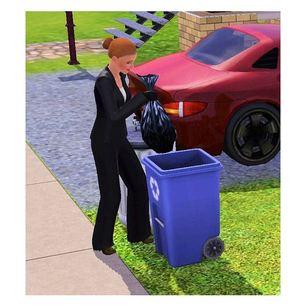 The Sims 3 Butler Taking out Trash