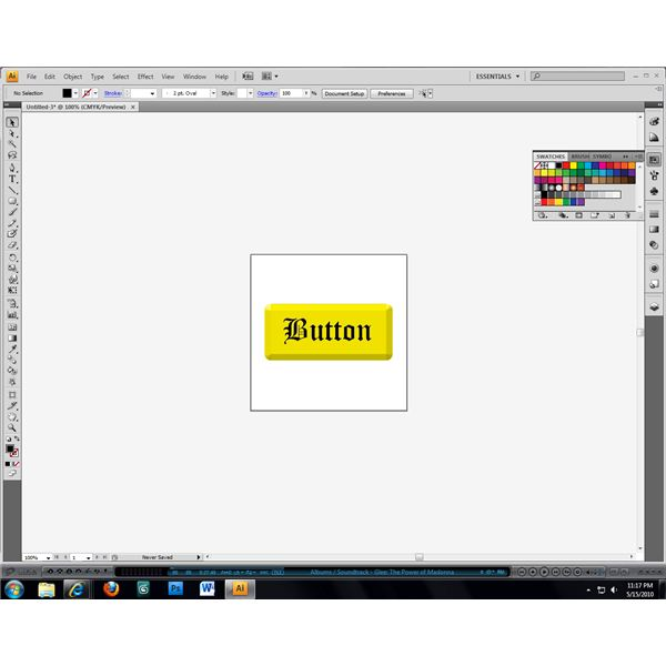 Beveled buttons are easy to make in Illustrator.