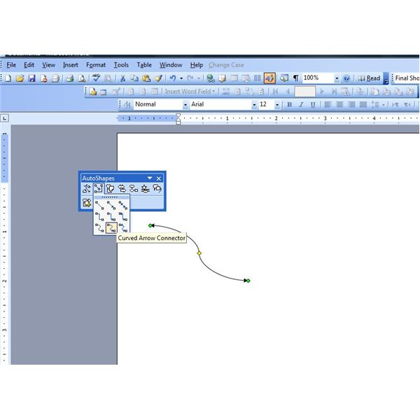 How to insert a line in microsoft word 2007