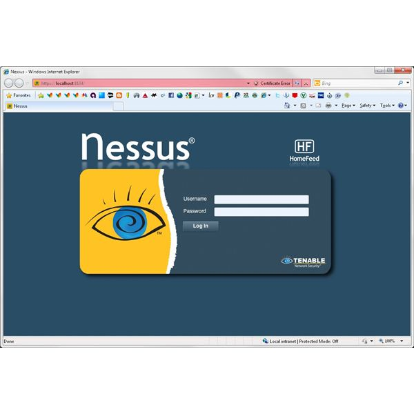 How to Scan a Database with Nessus -- Page One