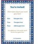 Jewish Event Invitation Template