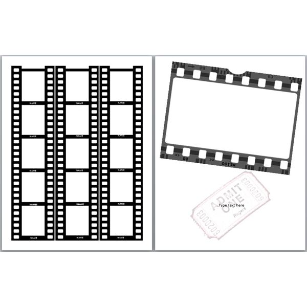 Filmstrip Yearbook Template