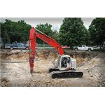 Excavator with Breaker Attachment, courtesy of Flickr, nugefishes
