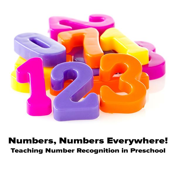 Teach preschoolers to recognize numbers by showing how they relate to everyday activities.