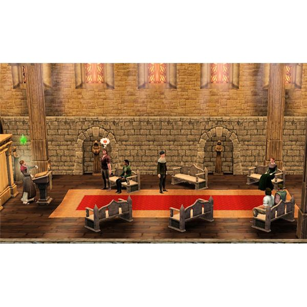 The Sims Medieval Peteran Priest Giving Sermon