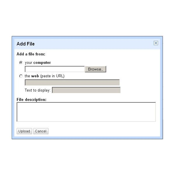 Google Sites Guide on Files