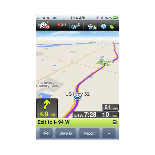 Traffic Apps for iPhone: Review of Waze iPhone App