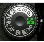 digital camera mode settings wheel