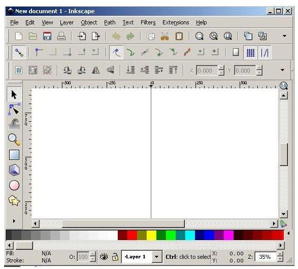 Inkscape at Startup