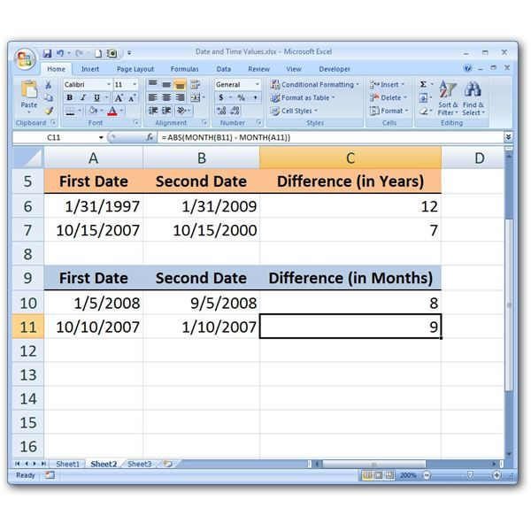Calculating Months with ABS
