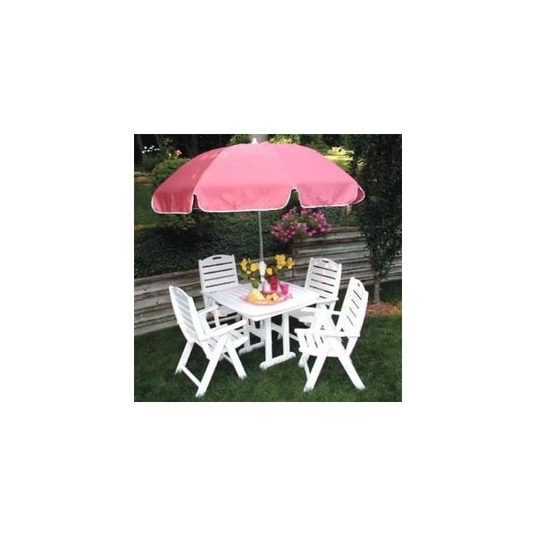 PolyWood Recycled Nautical Breeze Patio Set -