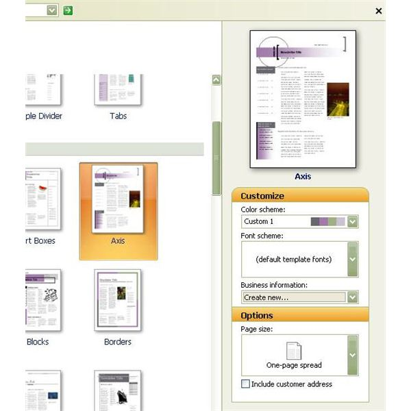 how to create a template in publisher
