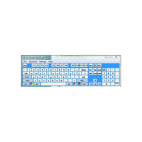 Control Panel-EaseOfUse 3 keyboard