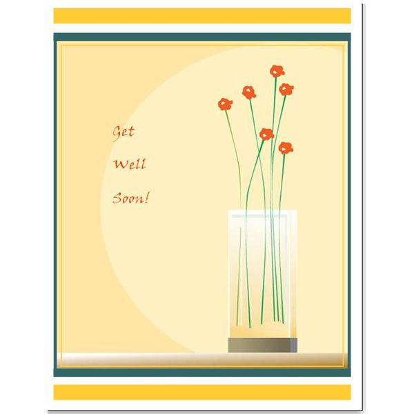 Free downloads simple template for a greeting card in microsoft get well card template m4hsunfo