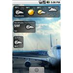 Snowstorm Weather Widget Android App