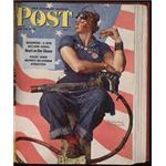 Roseie the Riveter on the Saturday Evening Post