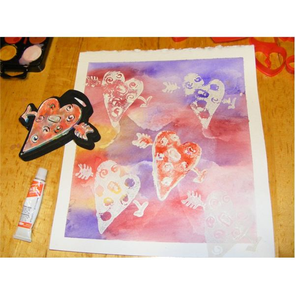 A Watercolor Valentine's Day Painting Lesson Hearts For. Valentines Messages Valentine Sts. Middle School. Valentine S Day Worksheet For Middle School At Clickcart.co
