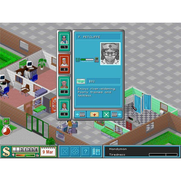 Theme Hospital Review - The Cute and Fun Theme Hospital PC Game Simulation Reviewed