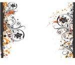 Grunge Floral Frame by SmoothSqu4d