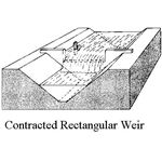 contracted rectangular weir