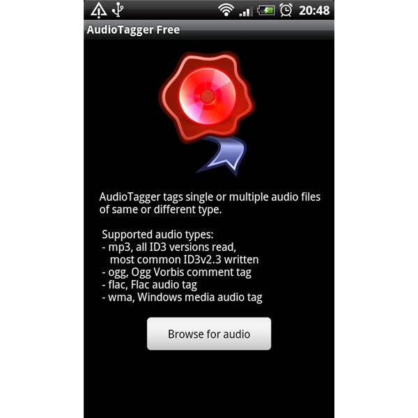 Audiotagger Home Screen