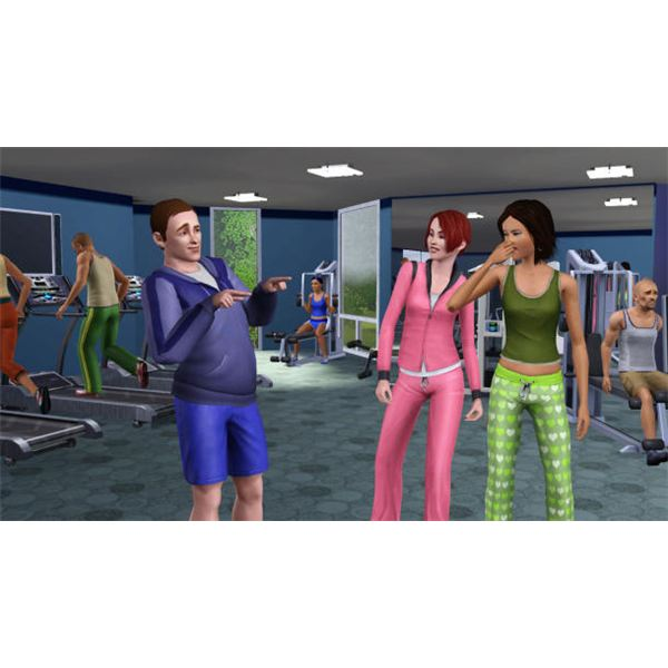 The Gym is a great place for Sims to exercise and socialize for free