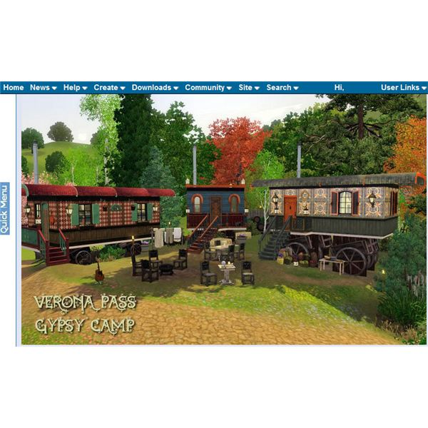 The Sims 3 Gypsy Camp