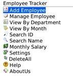 Employee Tracker Main Window