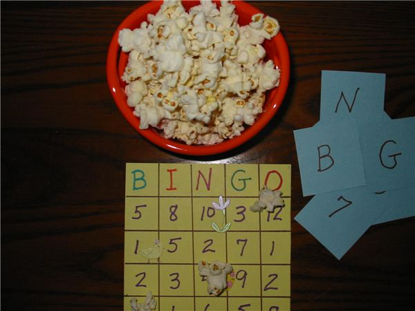 Popcorn Bingo (Math and Game)