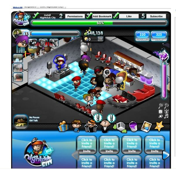 Facebook Game Nightclub City: New Players Guide