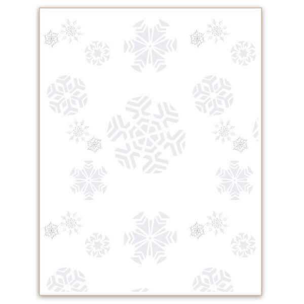 Winter Backgrounds for Word Documents: Snowflakes