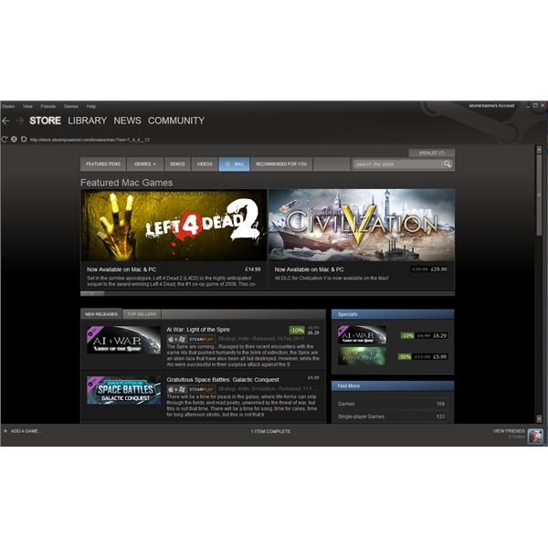 Download games with Steam
