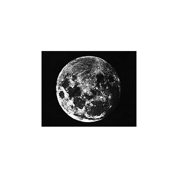 First daguerreotype of the moon, taken by John W. Draper in 1840