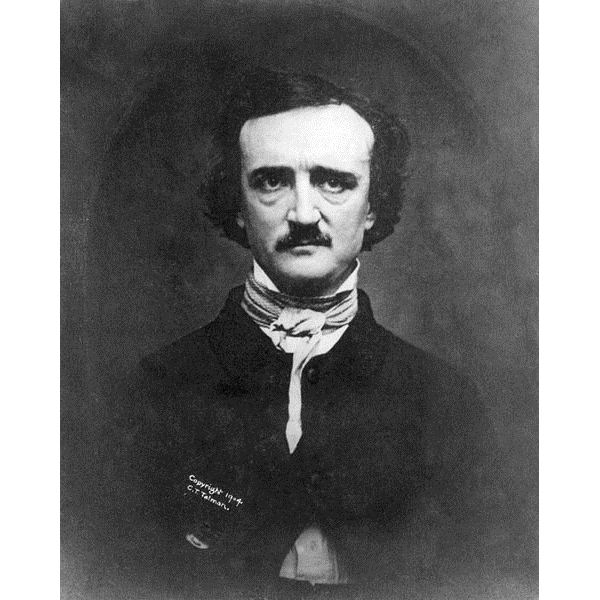 Edgar Allan Poe image in the Public Domain
