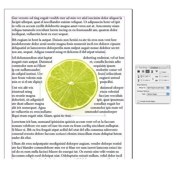 Text Wrap in InDesign