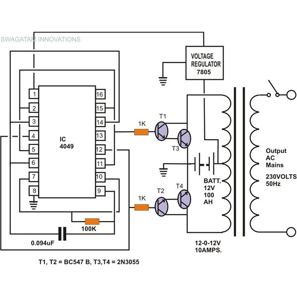 circuit diagram of an inverter diagram of an inverter circuit