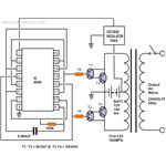 Simple Inverter Circuit Without Charger, Circuit Diagram, Image
