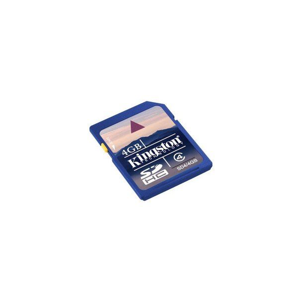 Kingston 4GB SDHC Class 4 Flash Memory Card