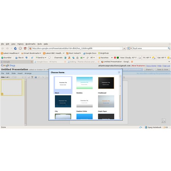 learn to create and add themes to google presentations