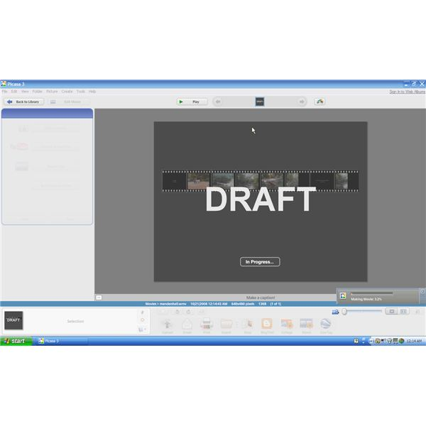 Movie Maker Draft Screen