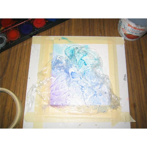 Place Plastic Wrap on Wet Paint