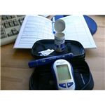 Diabetes monitoring kit used by pregnant woman