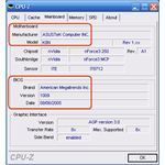 Screenshot from the cpu-z utility