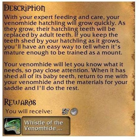 Venomhide Ravasaur Mount in World of Warcraft