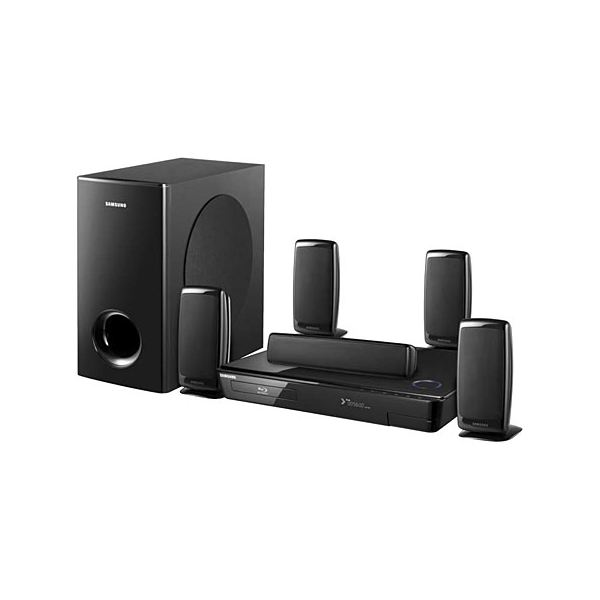 blu ray home theater with wireless rear speakers panasonic sc bt 100 and samsung ht bd 1250. Black Bedroom Furniture Sets. Home Design Ideas