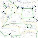 Pisces constellation map