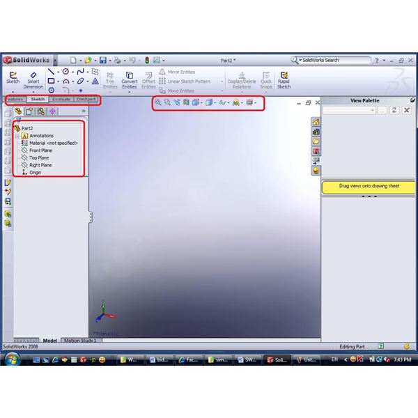 Creating new file in CAD program - Overview of SolidWorks2008 Menu – by John Sinitsky