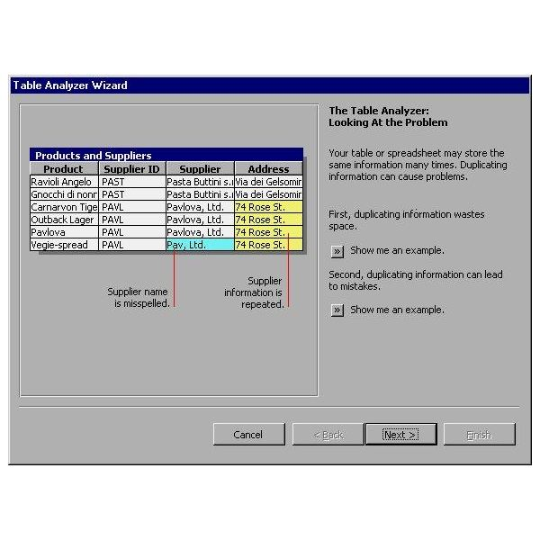 Ms Access - Table Analyzer
