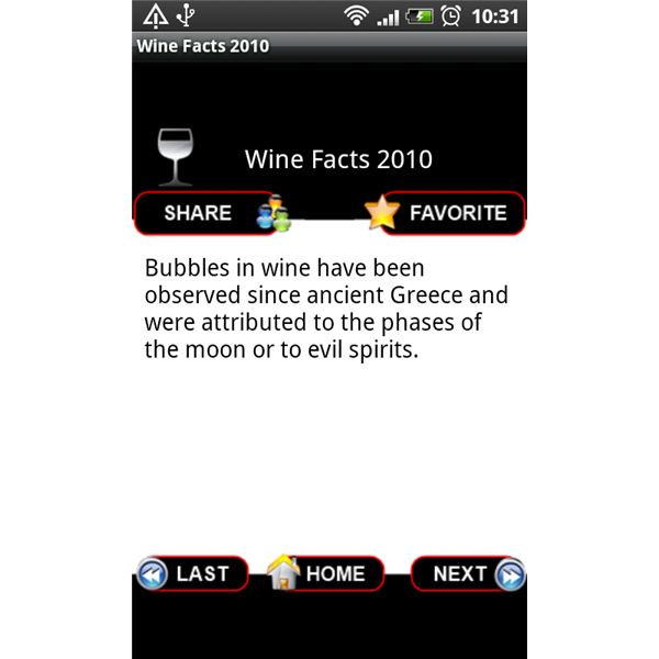 Wine Facts 2000 Fact Screen