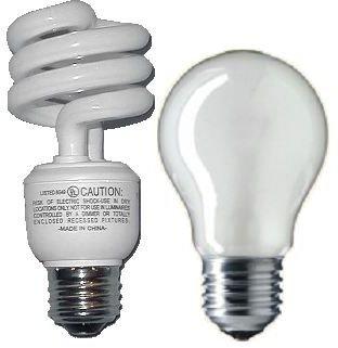 Incandescent and fluorescent light bulbs